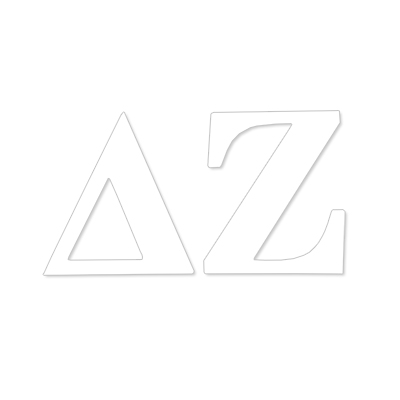 Delta Zeta Greek Letter Decal