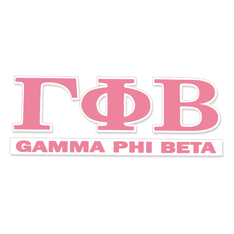 Gamma Phi Beta Greek Letter Decal