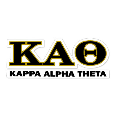 Kappa Alpha Theta Greek Letter Decal