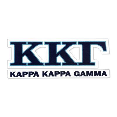Kappa Kappa Gamma Greek Letter Decal