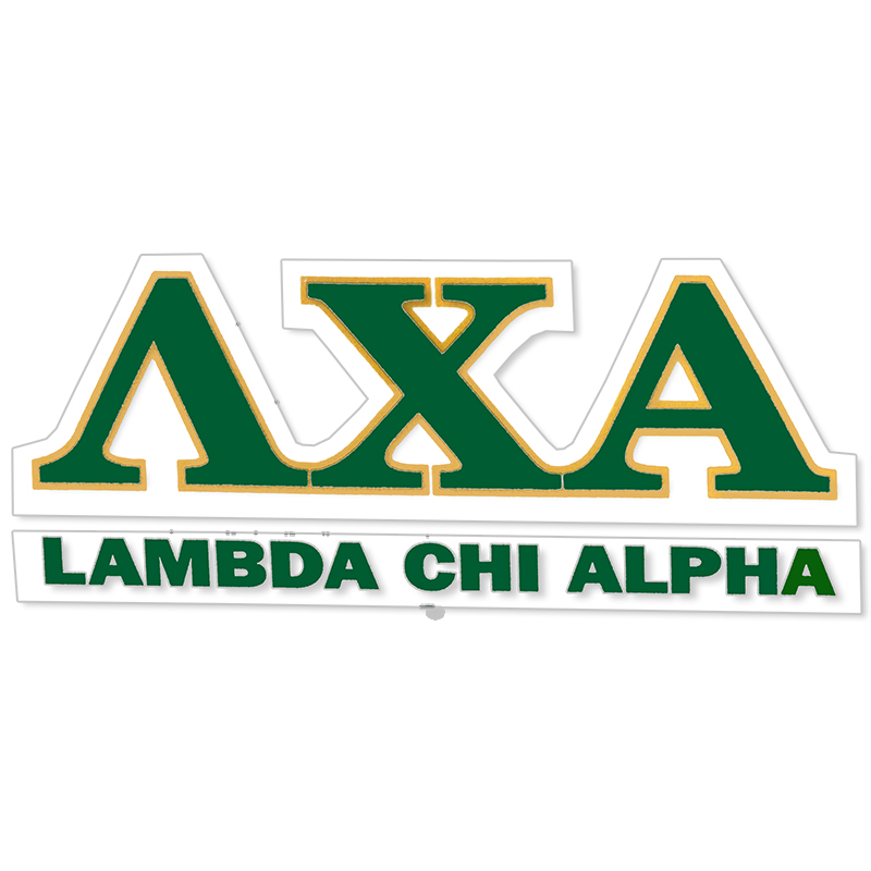 Lambda Chi Alpha Greek Letter Decal (SKU 13325893206)