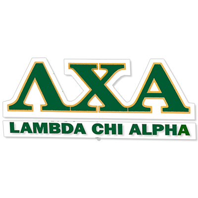 Lambda Chi Alpha Greek Letter Decal