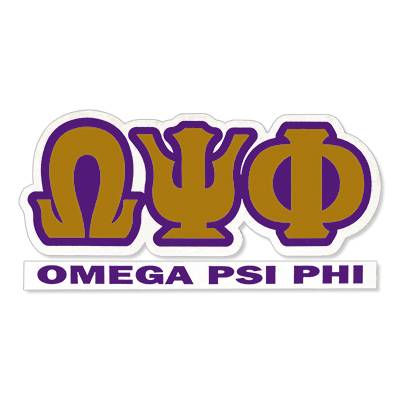 Omega Psi Phi Greek Letter Decal