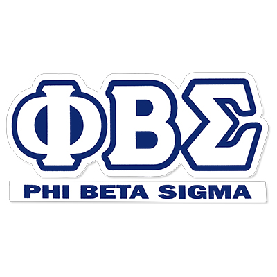 Phi Beta Sigma Greek Letter Decal