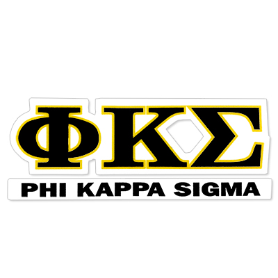 Phi Kappa Sigma Greek Letter Decal