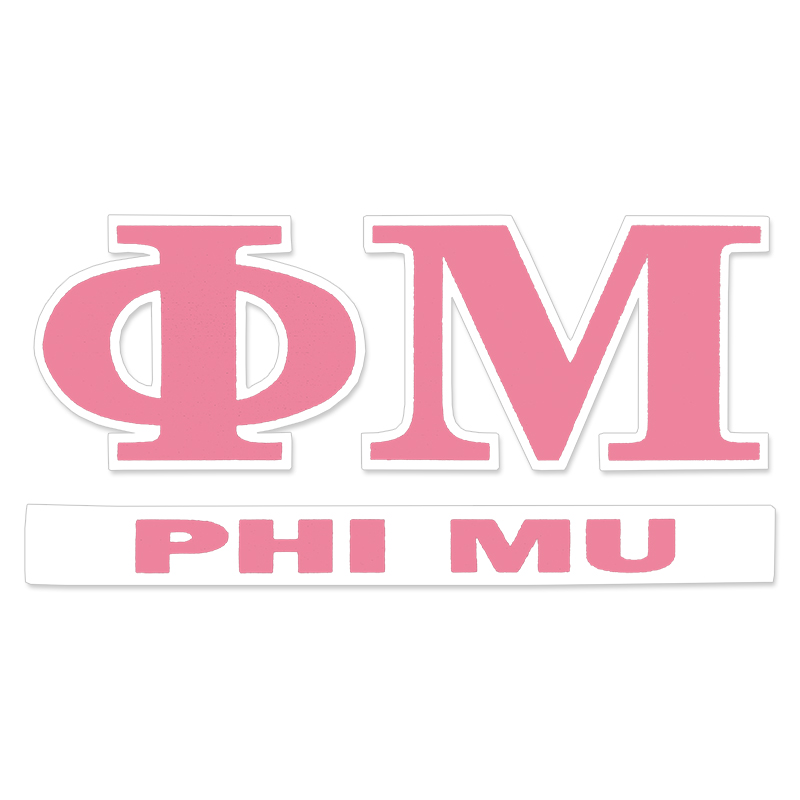 Phi Mu Greek Letter Decal (SKU 13326111206)