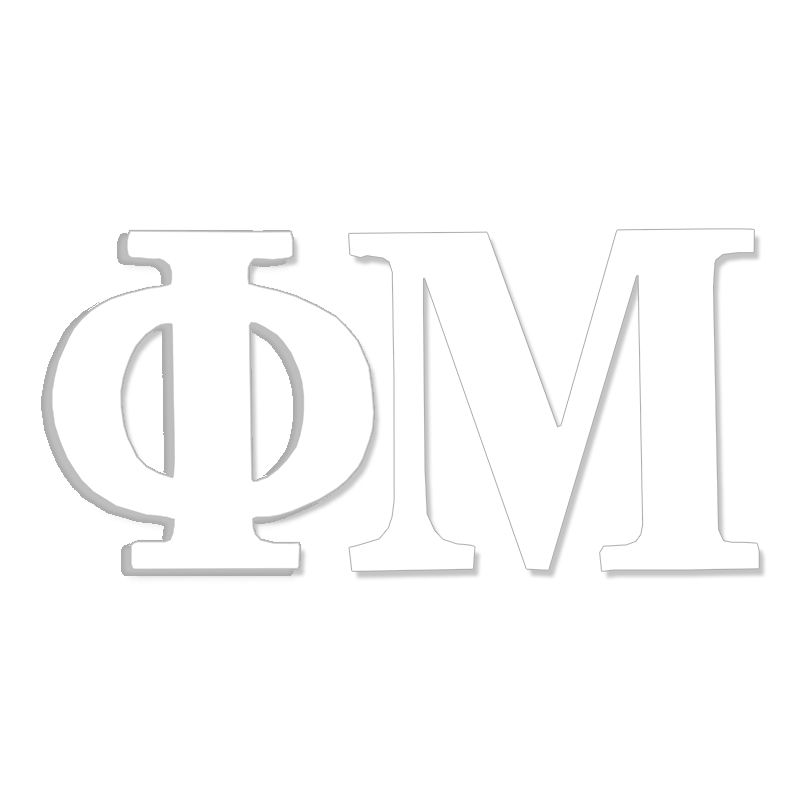 Phi Mu Greek Letter Decal (SKU 13326128206)