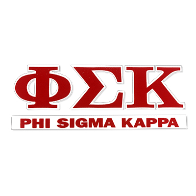 Phi Sigma Kappa Greek Letter Decal