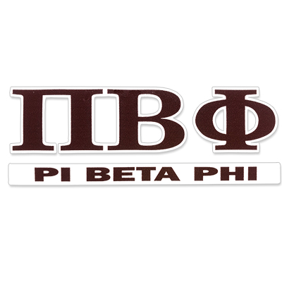 Pi Beta Phi Greek Letter Decal