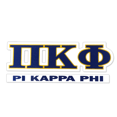 Pi Kappa Phi Greek Letter Decal