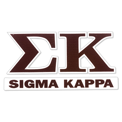 Sigma Kappa Greek Letter Decal