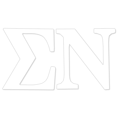 Sigma Nu Greek Letter Decal