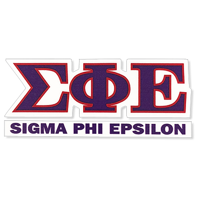 Sigma Phi Epsilon Greek Letter Decal