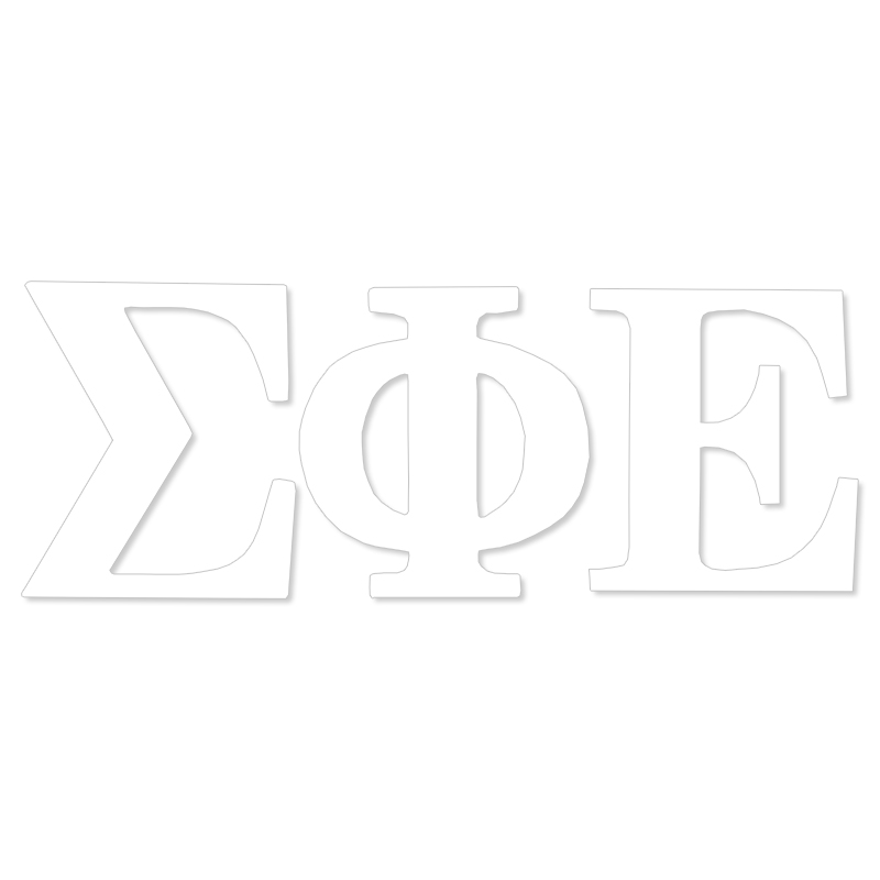 Sigma Phi Epsilon Greek Letter Decal (SKU 13327927206)