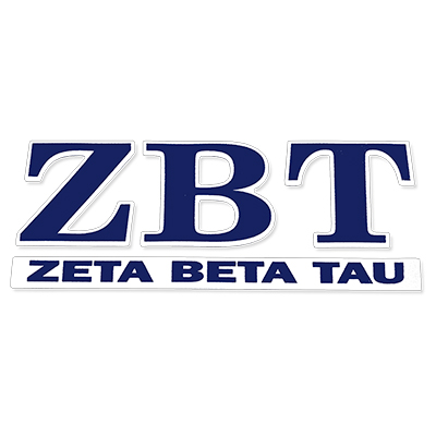 Zeta Beta Tau Greek Letter Decal