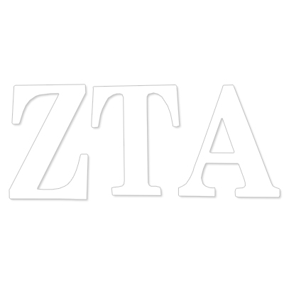 Zeta Tau Alpha Greek Letter Decal