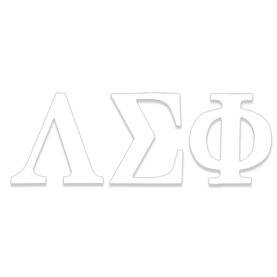 Lambda Sigma Phi Greek Letter Decal