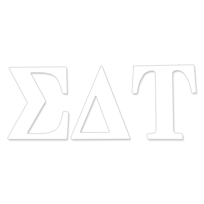 Sigma Delta Tau Greek Letter Decal