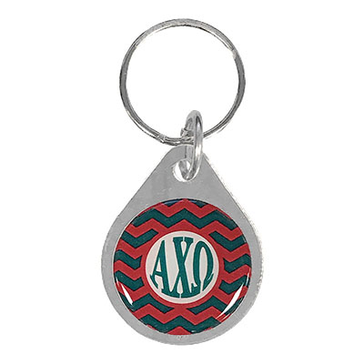 Alpha Chi Omega Chevron Key Chain