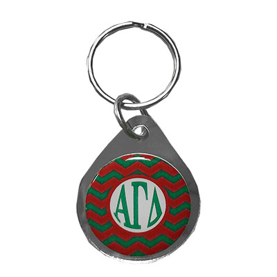 Alpha Gamma Delta Chevron Key Chain