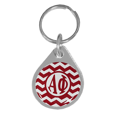Alpha Phi Chevron Key Chain