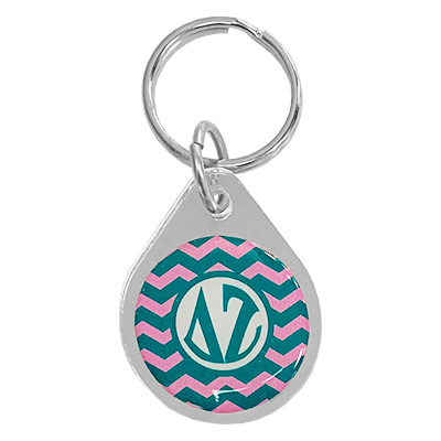 Delta Zeta  Chevron Key Chain