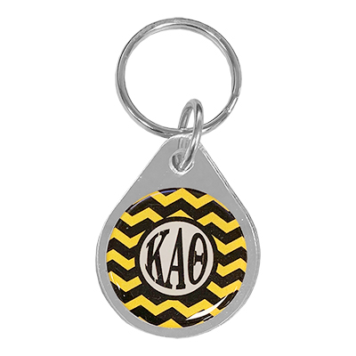 Kappa Alpha Theta Chevron Key Chain