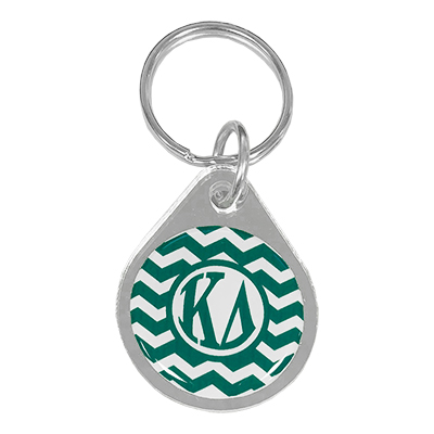 Kappa Delta  Chevron Key Chain