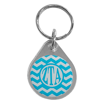 Zeta Tau Alpha Chevron Key Chain