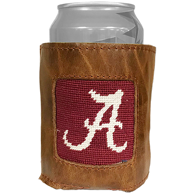 Alabama Script A Embroidered Can Cooler