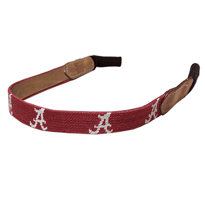 Alabama Script A Embroidered Sunglass Strap