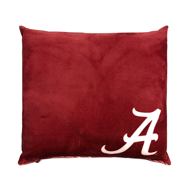 Alabama Velvet Printed Pillow With Script A (SKU 13329242245)