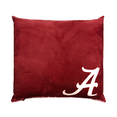 Alabama Velvet Printed Pillow With Script A