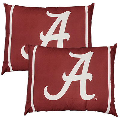 Set Of Two Alabama Bed Pillow With Double Stripe