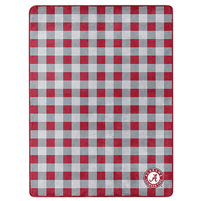 Alabama Silk Touch Buffalo Check Throw Blanket