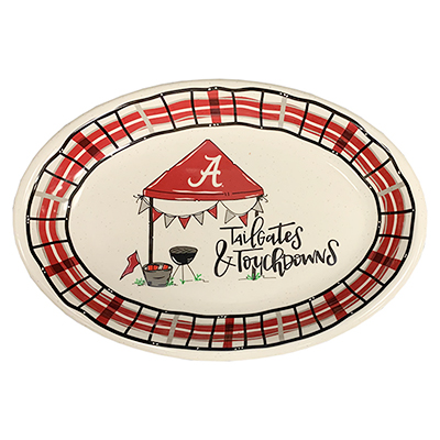 Alabama Oval Melamine Tailgates And Touchdowns Platter