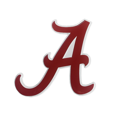 Alabama Script A Metal Decal