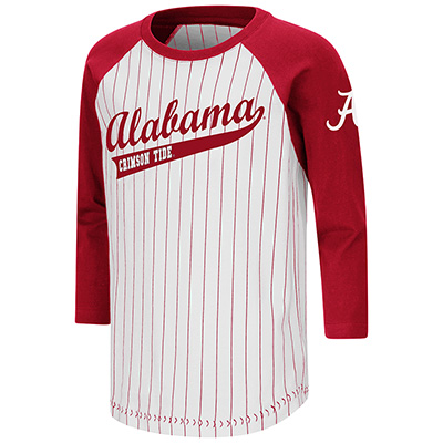 Alabama Crimson Tide Stone Age 3/4 Sleeve Baseball T-Shirt