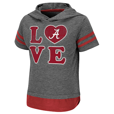Alabama Love Yabba Short Sleeve Hooded Shirt