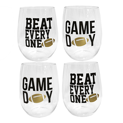 Gameday To Go Stemless Tumblers Set Of 4