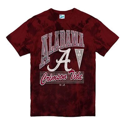 Alabama Crimson Tide Script A Campus Party Vintage Tubular T-Shirt