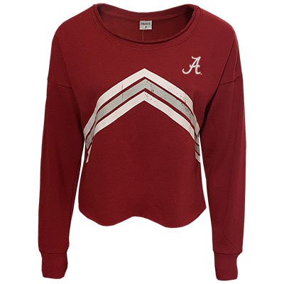 Script A Flash Crop Sweatshirt