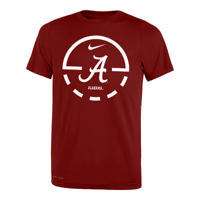 Alabama Basketball Youth Inside Court Dri-Fit Legend 2.0 Short Sleeve T-Shirt