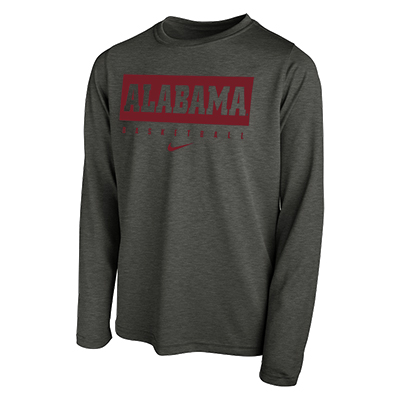 Alabama Basketball Dri-Fit Legend 2.0 Long Sleeve T-Shirt