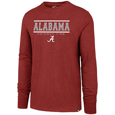 Alabama Over Script A Campus Quad Club Long Sleeve T-Shirt