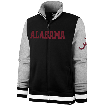 Alabama With Script A On Sleeve Heritage Iconic Track Jacket