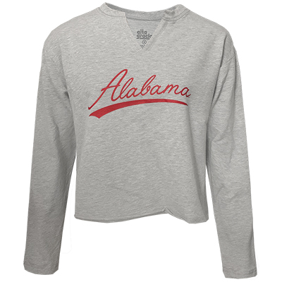 Alabama French Terry V-Neck Crop Pullover