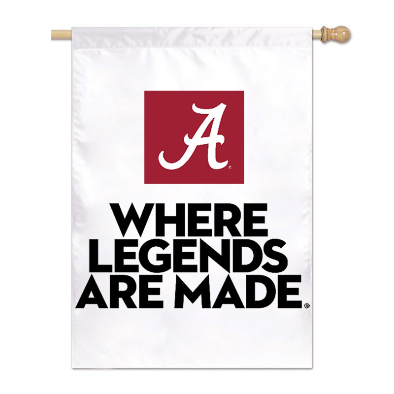 Where Legends Are Made White Vertical Flag (SKU 13349677202)