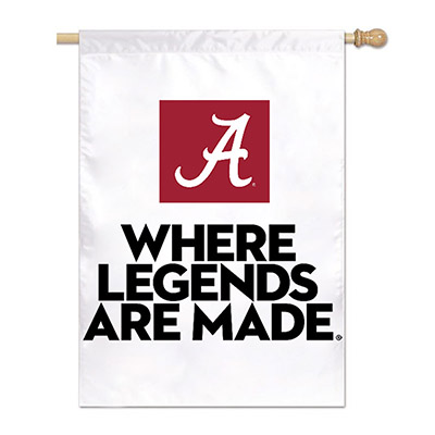 Where Legends Are Made White Vertical Flag