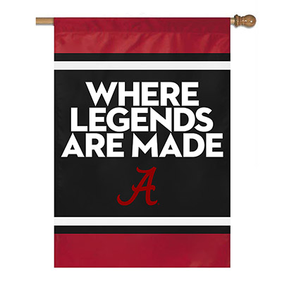 Where Legends Are Made Vertical Banner With Stripes